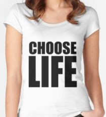 CHOOSE LIFE - WHAM! Women's Fitted Scoop T-Shirt