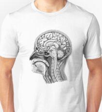 Anatomische Gehirnzeichnung Unisex T-Shirt