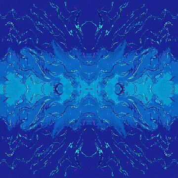 Night Energies Abstract Watercolor by Missman