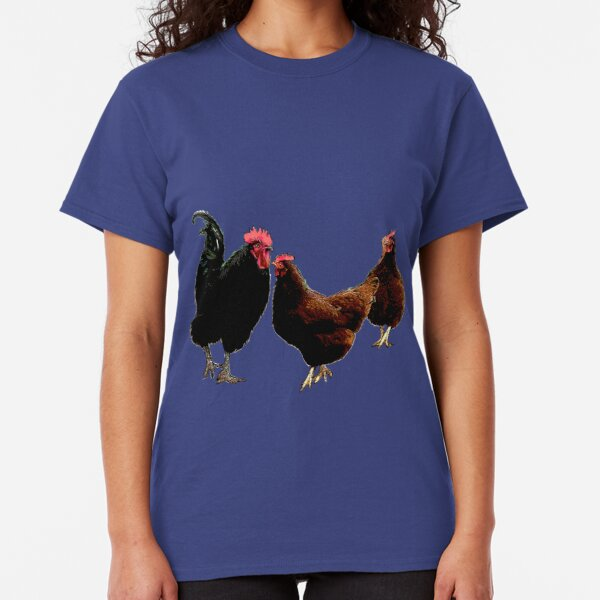 Rooster and Chickens Classic T-Shirt