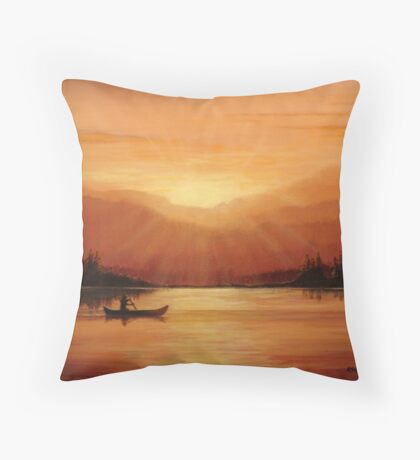 Daybreak in the Sawtooths Throw Pillow