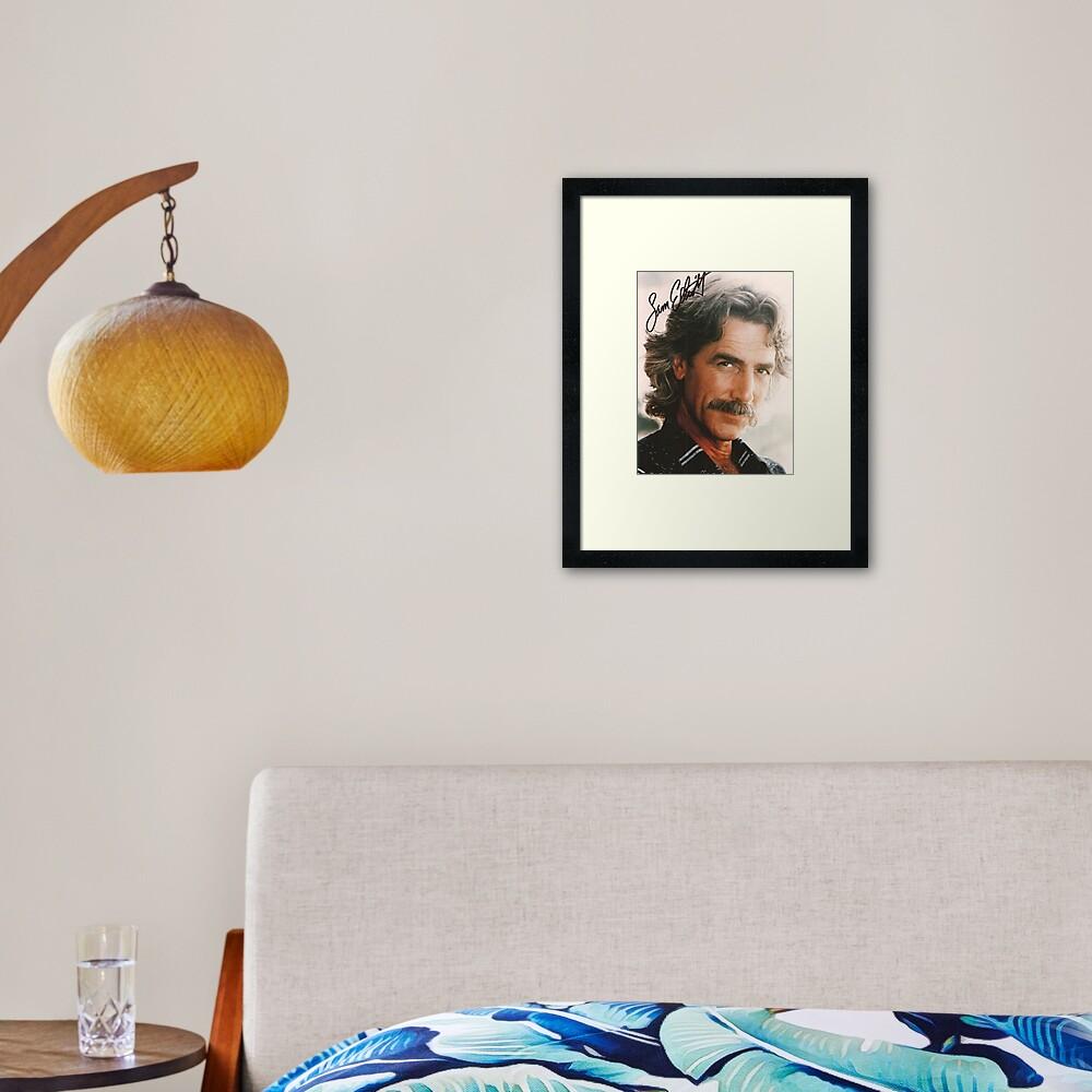 Sam Elliot Framed Art Print