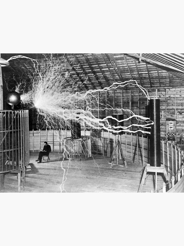 Nikola Tesla with his equipment (June 17, 1901) by allhistory