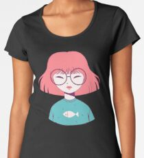 Pink Girl Women's Premium T-Shirt