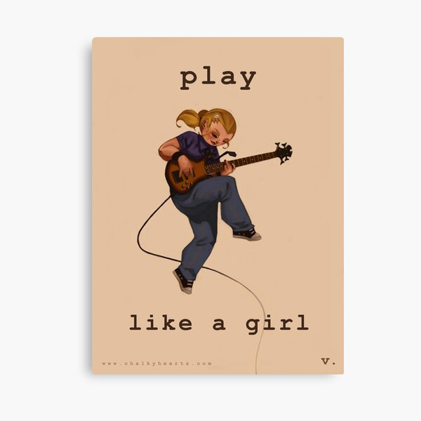 Play Like a Girl Canvas Print