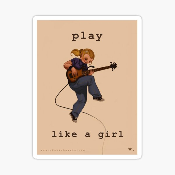 Play Like a Girl Sticker
