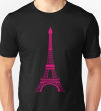 Hot Pink Eiffel Tower Unisex T-Shirt