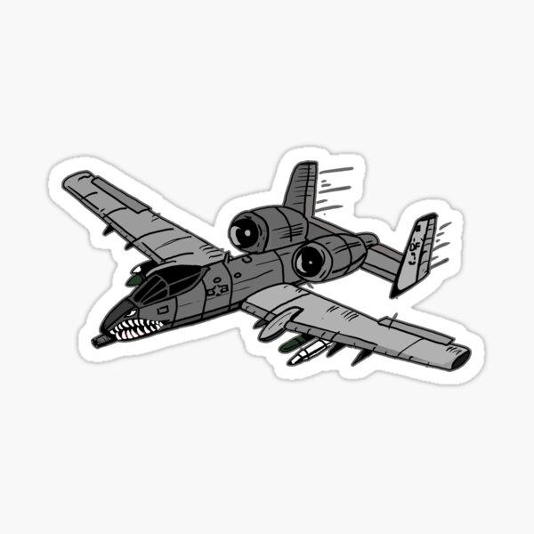 A-10 Warthog Digital Painting Sticker