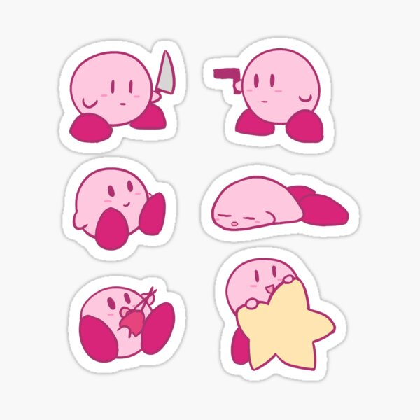 Tiny Kirby Sticker