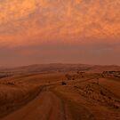 Sunset road by Tony Middleton
