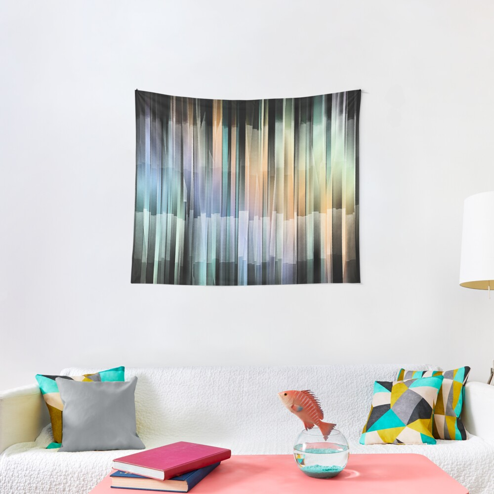 Colorful Textured Stripes Tapestry