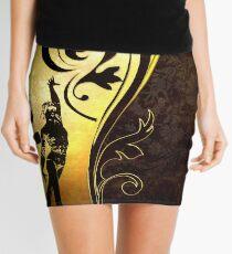 Gold gymnast Mini Skirt