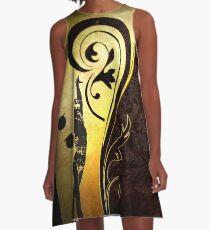 Gold gymnast A-Line Dress