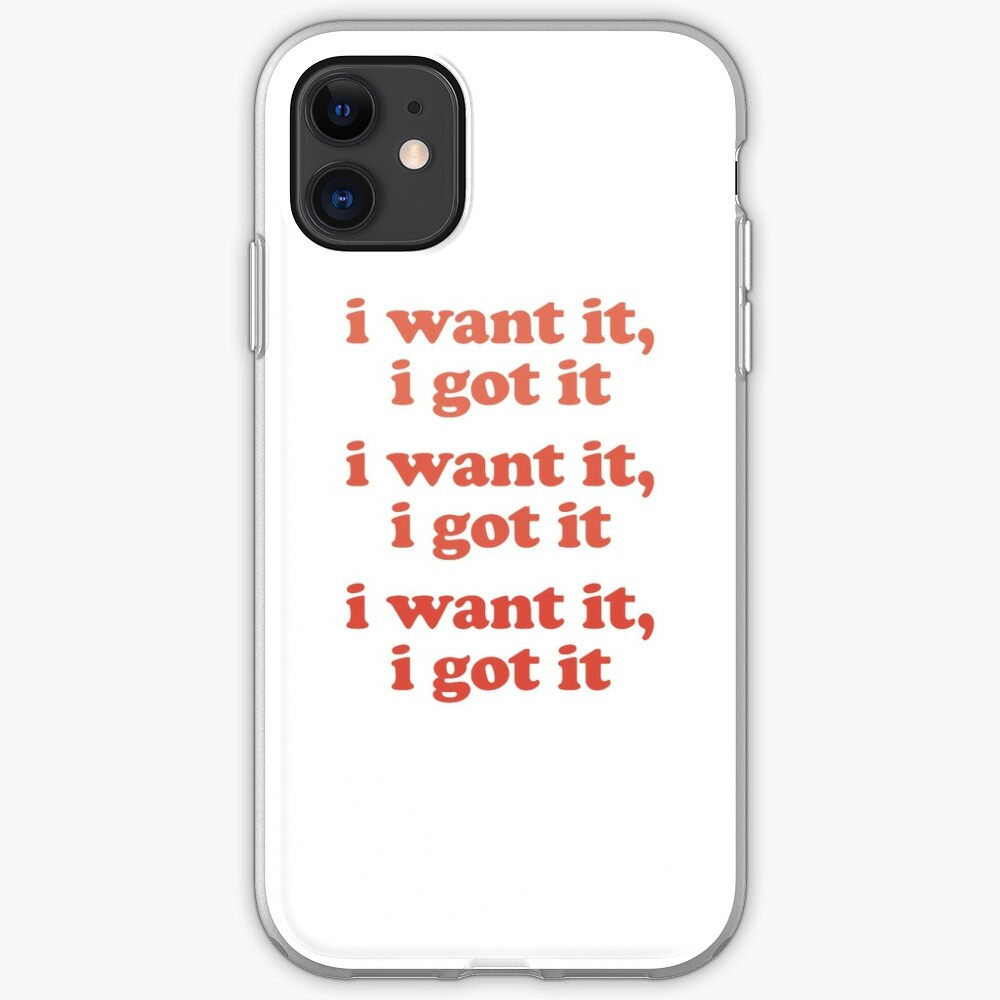 WANT iPhone Case & Cover