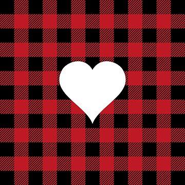 Buffalo Plaid: Heart by MilitaryCandA