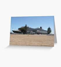 Queen Victoria Cruise Liner Greeting Card