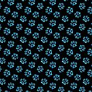 Love Heart Paws Pattern - Blue by WickedRefined - Nicole Demereckis