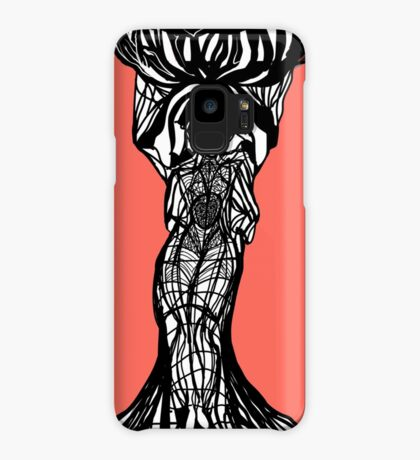 The woman within in living coral Case/Skin for Samsung Galaxy