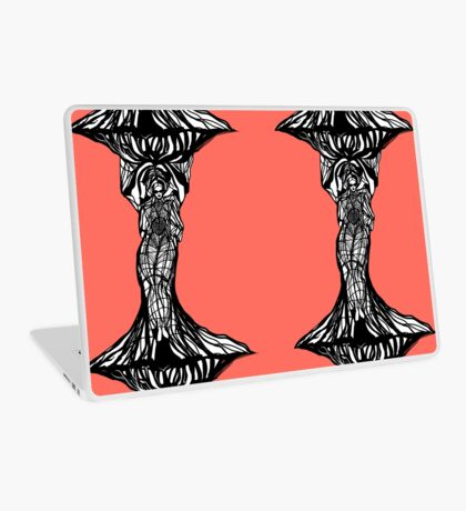 The woman within in living coral Laptop Skin