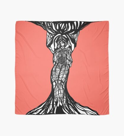 The woman within in living coral Scarf