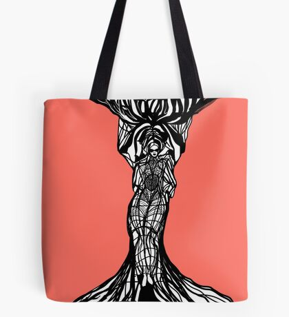 The woman within in living coral Tote Bag