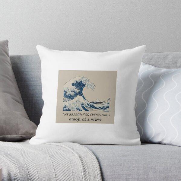 John Mayer Emoji of a great wave Throw Pillow