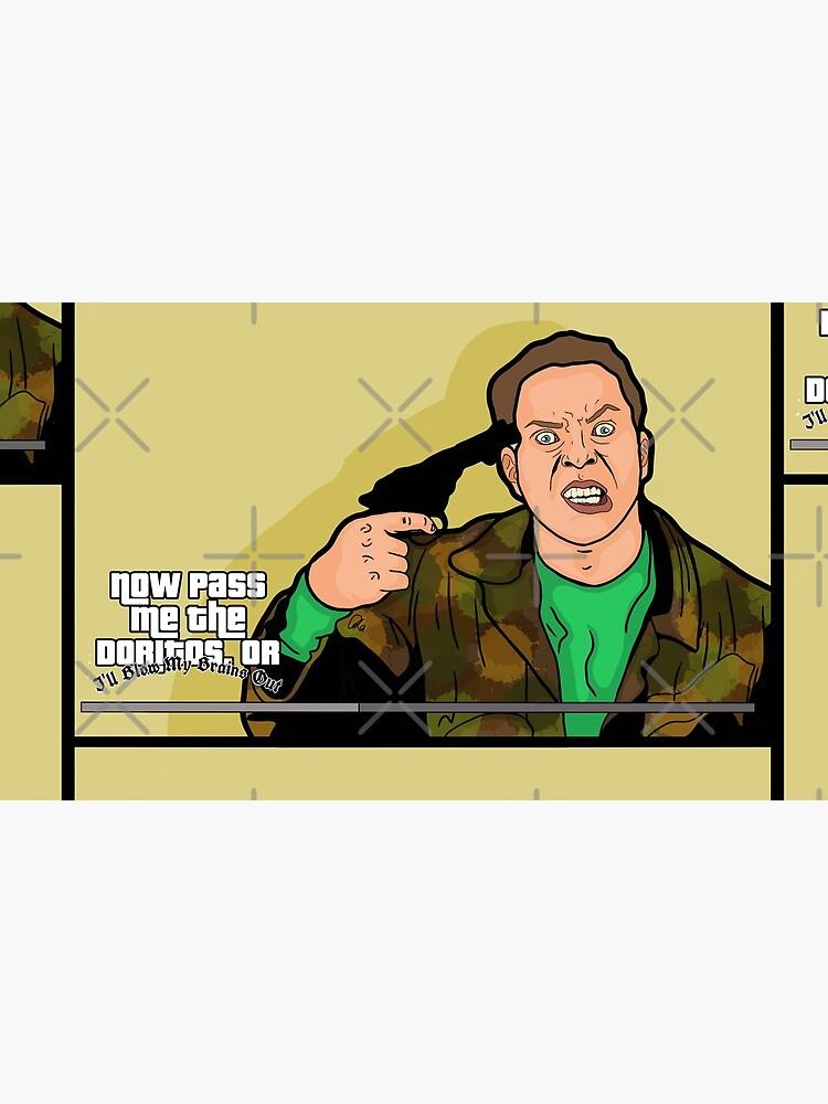 Ahora pásame los Doritos o me volaré el cerebro Peep Show Jez Jeremy GTA Parodia de chromewaves