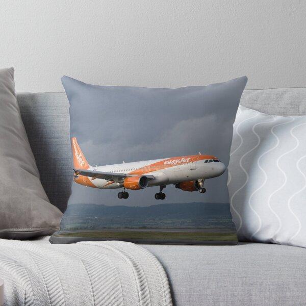Airbus A319 (EasyJet) Throw Pillow
