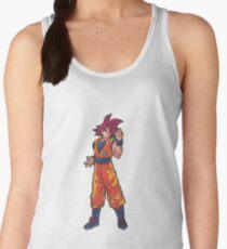 Camiseta de tirantes para mujer Super Saiyan Dios Goku d3012ce870856