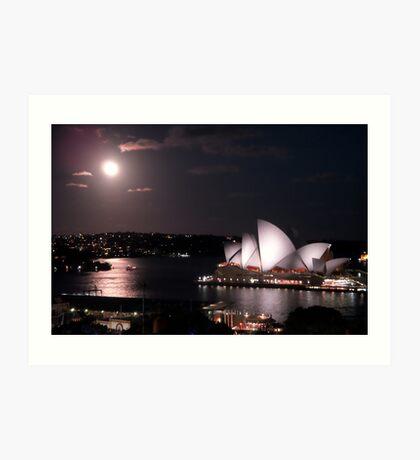 Sydney Harbour by moonlight Art Print