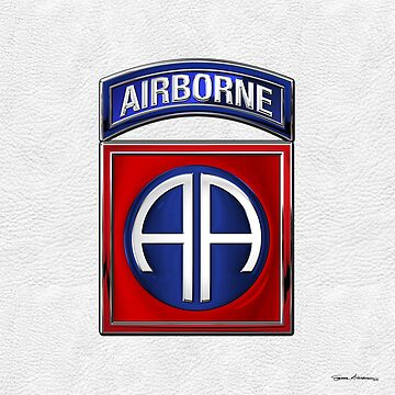 82nd Airborne Division - 82 ABN Insignia over White Leather by Captain7