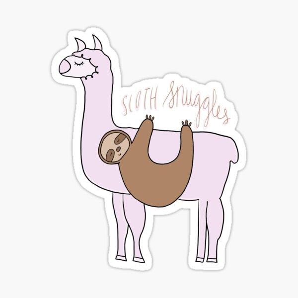 Sloth Snuggles Sticker