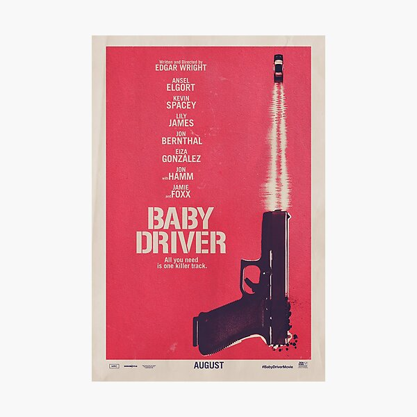 Baby Driver Movie Poster  Photographic Print