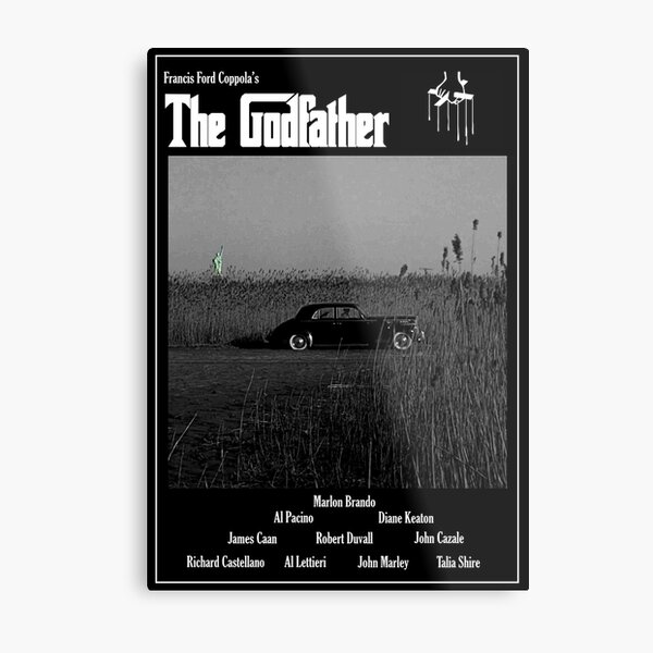 The Godfather Movie Poster Metal Print