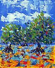 Mangroves at low tide (3242a) - Acrylic by Paul Gilbert
