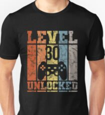 30th Birthday Gamer Gift Retro Vintage Shirt Unisex T