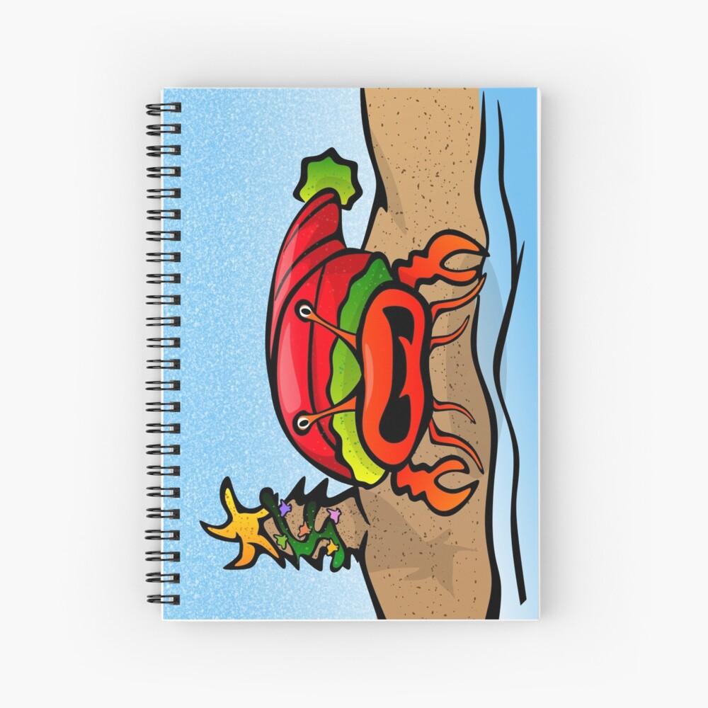 Sandy Claws Spiral Notebook