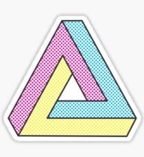CMYK Penrose Triangle #2 Sticker