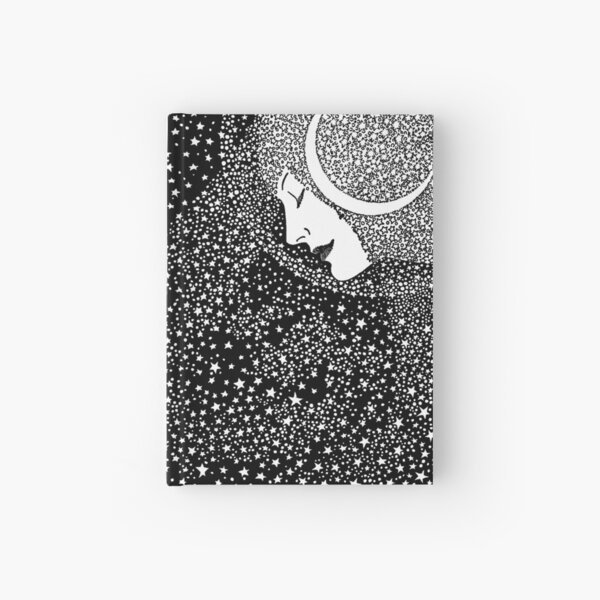 Lady of the Night - white Hardcover Journal