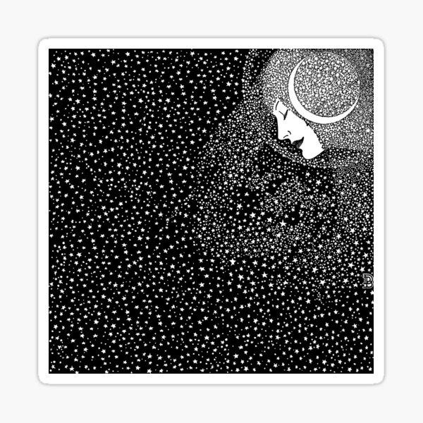 Lady of the Night - white Sticker