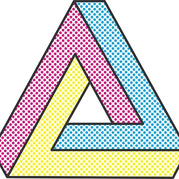 CMYK Penrose Triangle #2 by alfablot
