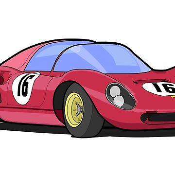 Ferrari Dino 206 SP by AndreGascoigne