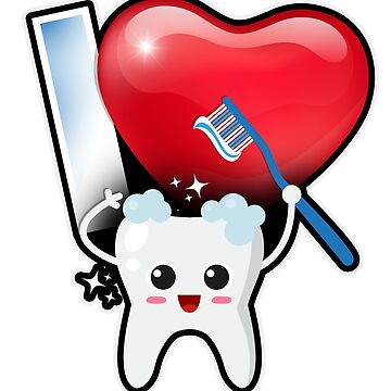 Love Tooth Dentist Hygienist Gift T-Shirt by mjacobp