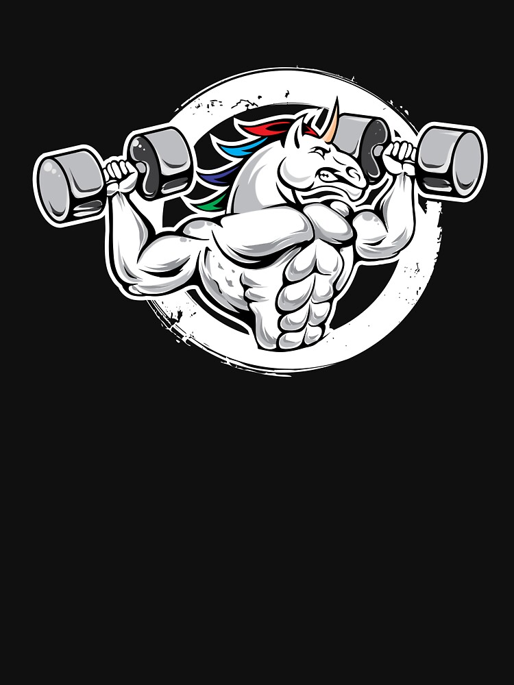 Funny Unicorn Working Out by TrendJunky