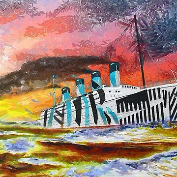 A digital painting of RMS Titanic's Senior Sister RMS Olympic by ZipaC