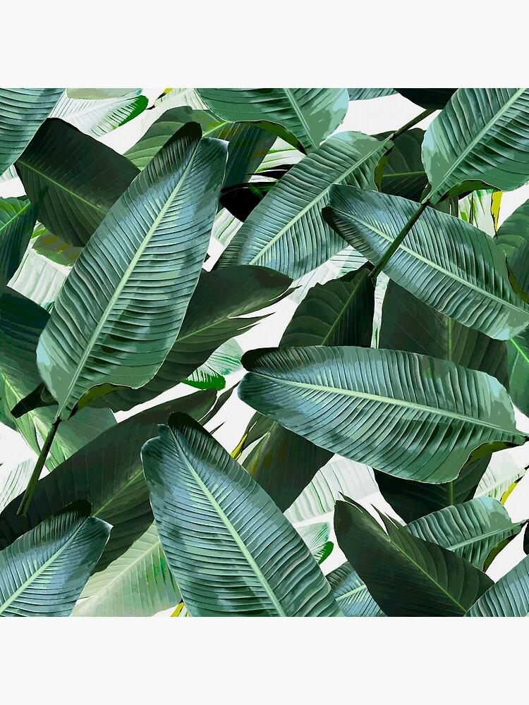 Bananenblatt wiegende Palmendruck von chrissyink