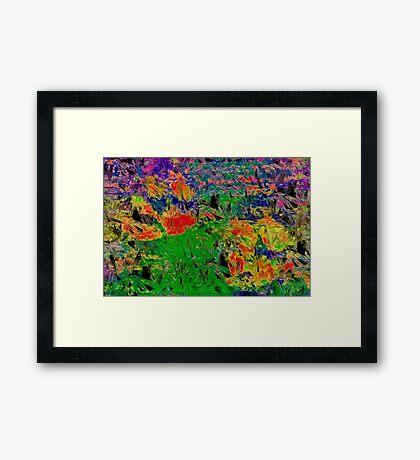 Paw Prints Spring Garden Walks Framed Print