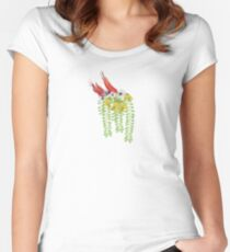 Flax, Kowhai, and Manuka Flowers Women's Fitted Scoop T-Shirt