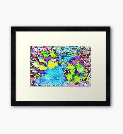 Paw Prints Seaside Paddle Framed Print