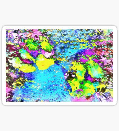 Paw Prints Seaside Paddle Sticker